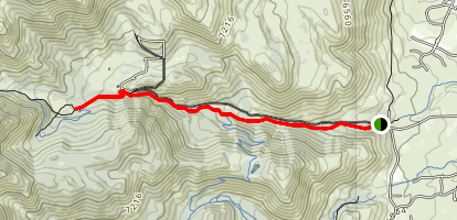 Upper Thomas Creek Trail Map
