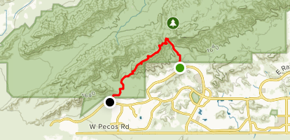 Telegraph Pass to Pyramid Trail Map