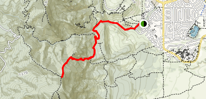 Bear Peak via Bear Canyon, Mesa and Fern Canyon Trail Map