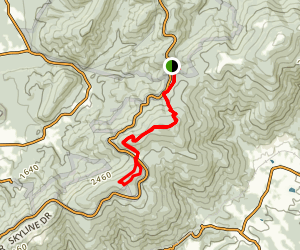 Beagle Gap and Little Calf Mountain Loop via Jarman Gap Map