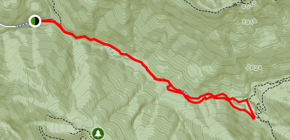 Opal Creek to Jawbone Flats Loop Map