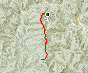 Panther Mountain and Giant Ledge from Fox Hollow Map