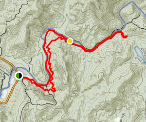 Chattooga River Trail to Licklog Falls  Map