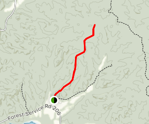 Miserable Point Access Trail Map
