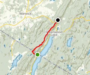 State Line Trail to 17A on the Appalachian Trail Map
