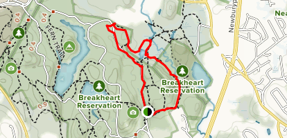 Saugus River Trail to Blue and Yellow Blaze Loop Map