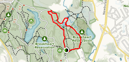 Saugus River Trail to Blue and Yellow Blaze Loop ...