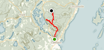 Camden Hills Traverse Map