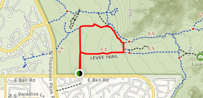 104th St Trail and Levee Trail Loop Map