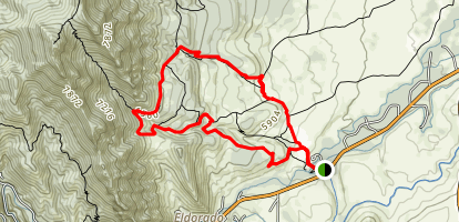 South Mesa, Bluestem, Shadow Canyon Loop Map