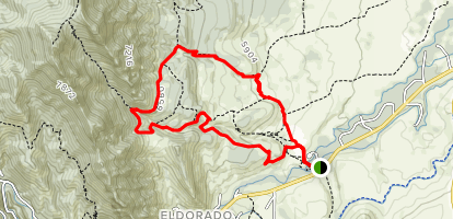 South Mesa, Bluestem and Shadow Canyon Loop Map