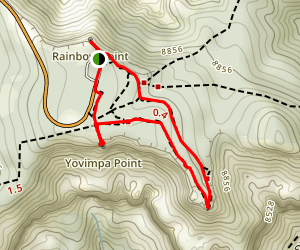 Rainbow and Yovimpa Points Plus Bristlecone Loop Map