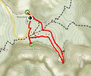 Rainbow Point, Yovimpa Point, and Bristlecone Loop (CLOSED) Map
