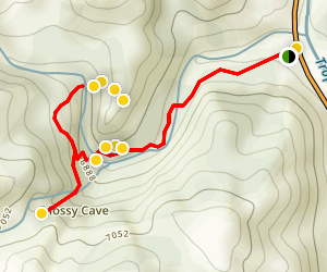 Mossy Cave Turret Arch and Little Windows Trail Map