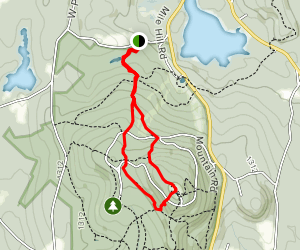 Wachuset Mountain via Old Mountain Trail and Semuhenna Trail Map