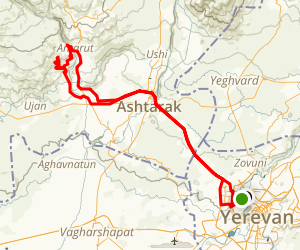 Yerevan Tegher Monastery Yerevan Cycling Trail Kotayk - yerevan map