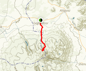 Geghadzor, Aragats North Lake Mountain Biking Trail  Map