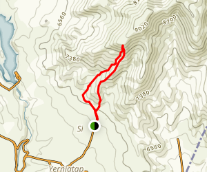 South and West Summit of the Mount Teghenis 1 Map