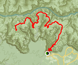 Tonto Trail to Monument Creek Map