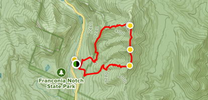Mount Lafayette and Franconia Ridge Trail Loop Map
