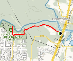 Eastex Frontage Road to Spring Creek Canoe Launch Trail Map