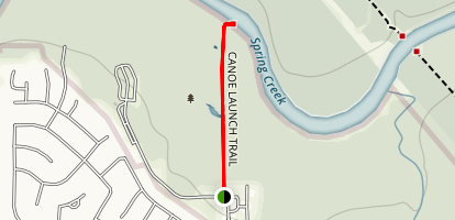 Spring Creek Canoe Launch Trail Map