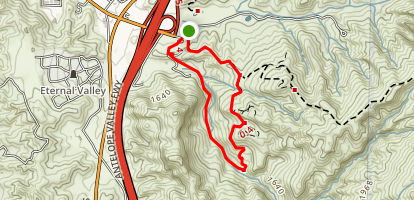 Elsmere Canyon Road Loop Map