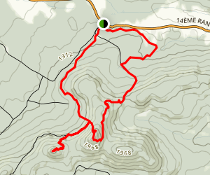 Mont Chapman and Pic Bald Loop Map