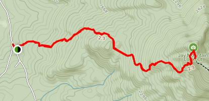 Jay Mountain Lookout Map