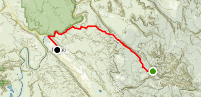 Porcupine Trail Downhill Map