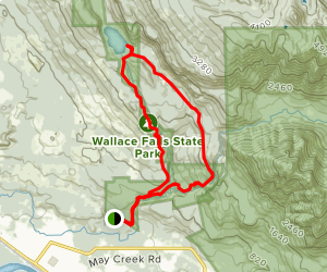Wallace Falls and Wallace Lake Loop Map