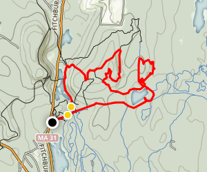 Rocky Pond and Ball Hill and Lower Crow Hill Pond Trail Map