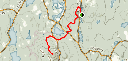 Crow Hill to Wachusett Mountain  Map