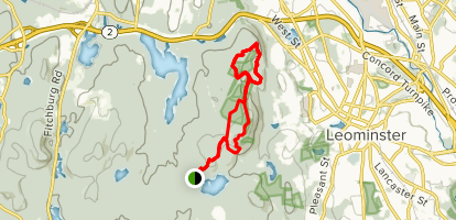 South and North Monoonsnoc Hill Loop Map