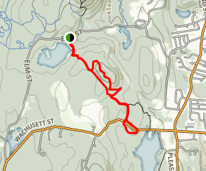 Haynes Reservoir to Blue Dot Loop Map