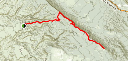 Porcupine Rim to UPS Trail Map