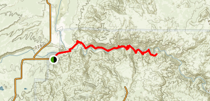 PCT from Spillway to Deep Creek Hot Springs  Map