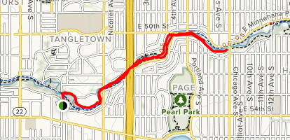 Minnehaha Creek Trail: Tangletown Section Map