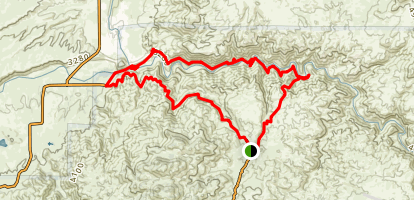 Bradford Trail and PCT- Deep Creek Hot Springs Loop Map
