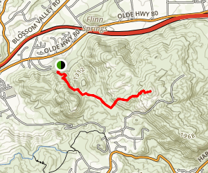 Flinn Peak Trail Map