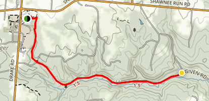 Stephan Field to Red Bird Hollow Map