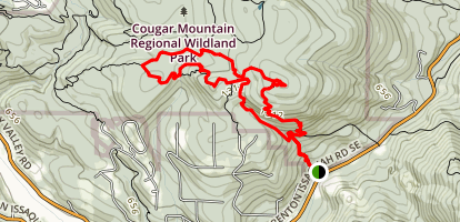 Whitaker Peak and Shy Bear Loop Trail to Doughty Falls Map