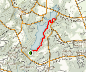 Hoopes Reservoir Hike Map