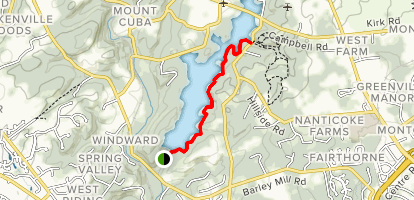 Hoopes Reservoir Hike [PRIVATE PROPERTY] Map