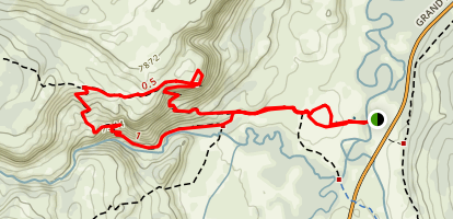 Mystic Falls Trail and Fairy Creek- Little Firehole Loop Map