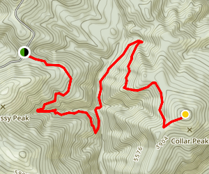 Big Grassy Peak and Collar Peak  Map