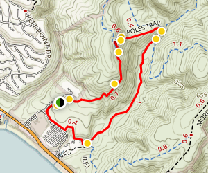 El Moro Canyon Short Loop Trail Map