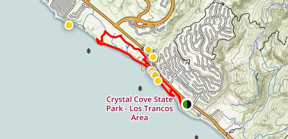 Reef Point and Crystal Cove Trail Map