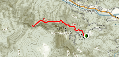 Four Seasons Trail to Hickory Nut Falls Map