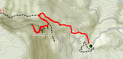 Four Seasons Trail to Chimney Rock Map